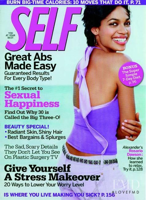 Rosario Dawson featured on the SELF cover from November 2004