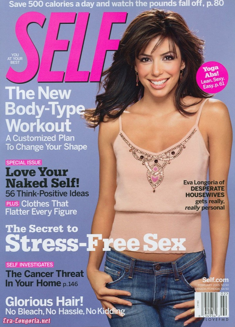 Eva Longoria featured on the SELF cover from February 2005