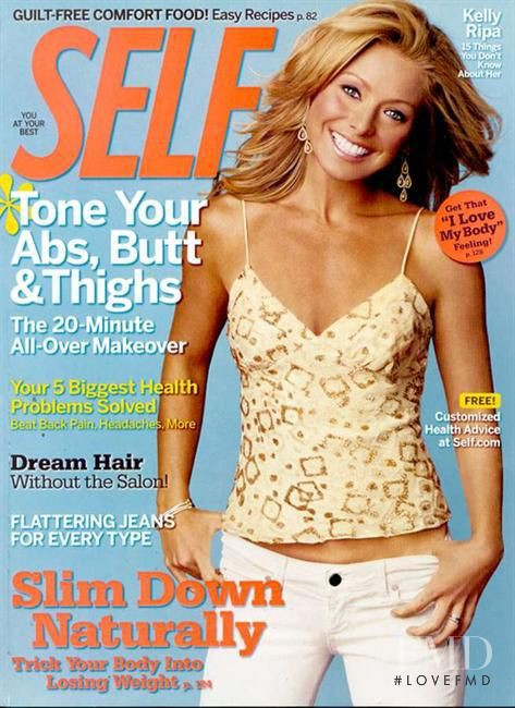 Kelly Ripa featured on the SELF cover from February 2007