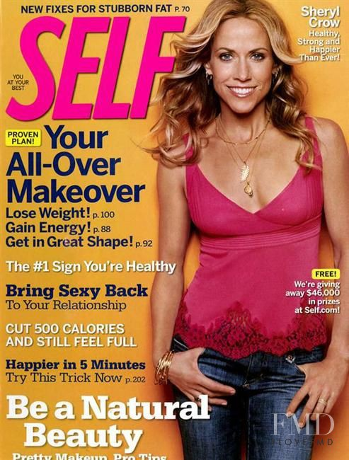 Sheryl Crow featured on the SELF cover from March 2007