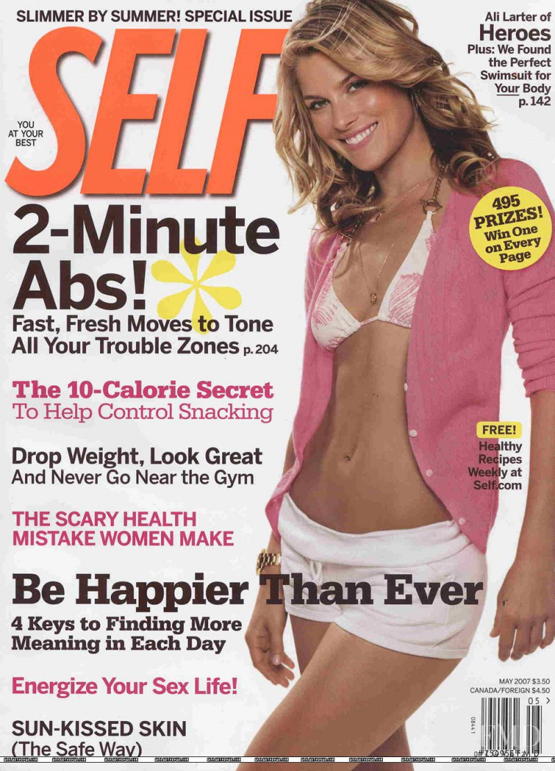Ali Larter featured on the SELF cover from May 2007
