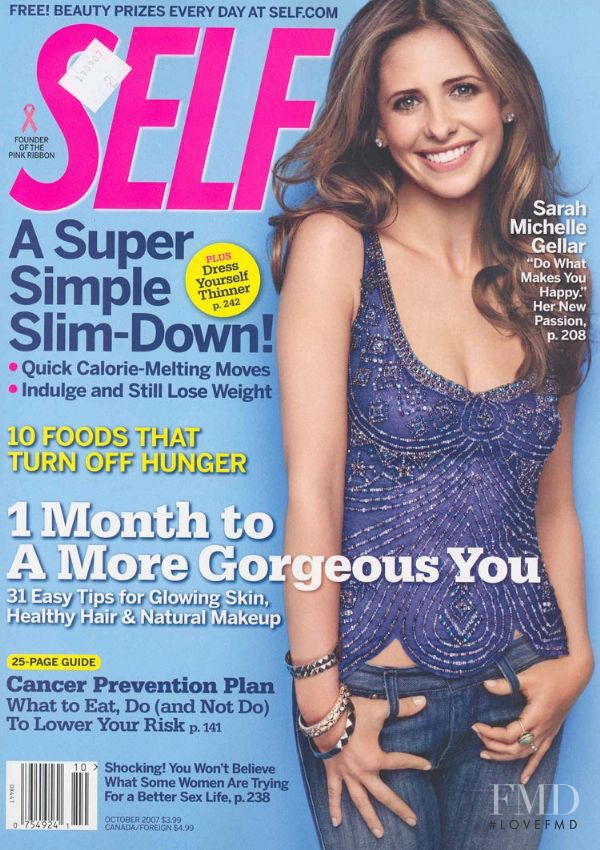 Sarah Michelle Gellar featured on the SELF cover from October 2007