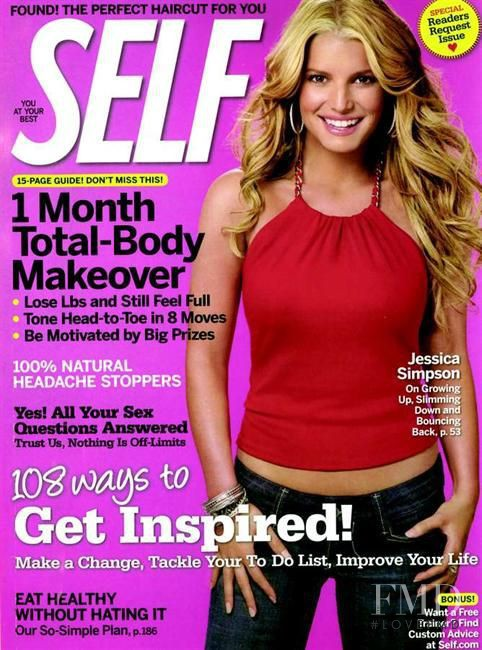 Jessica Simpson featured on the SELF cover from September 2007