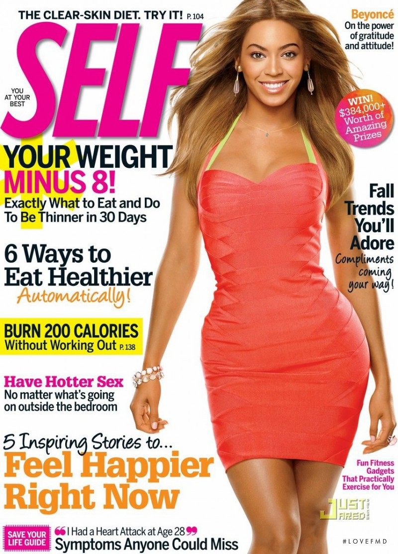 Beyonce featured on the SELF cover from April 2008