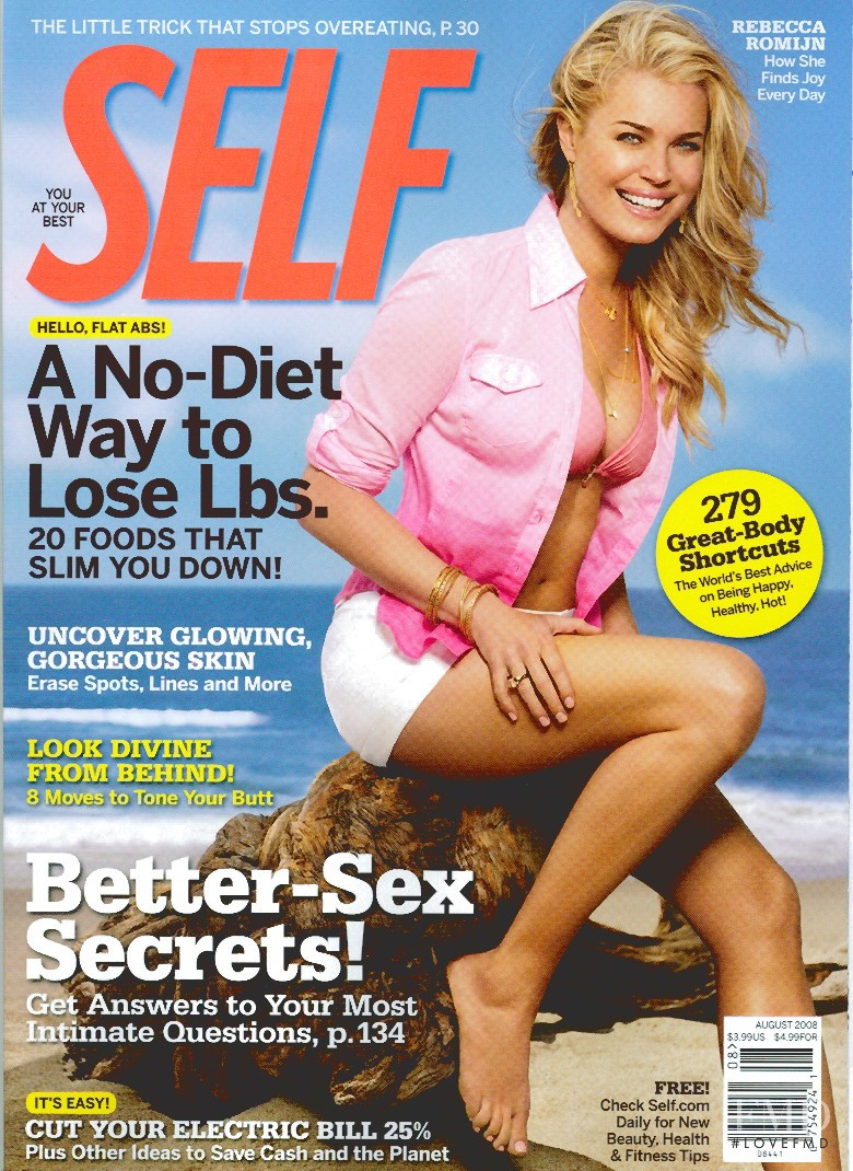 Rebecca Romijn featured on the SELF cover from August 2008