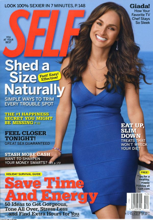 Giana De Laurentis featured on the SELF cover from December 2008