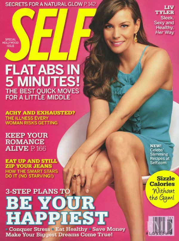 Liv Tyler featured on the SELF cover from June 2008