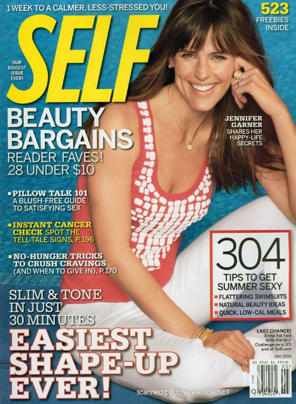 Jennifer Garner featured on the SELF cover from May 2008