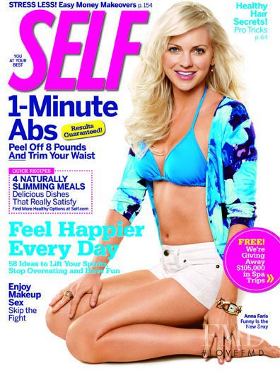 Anna Faris featured on the SELF cover from April 2009
