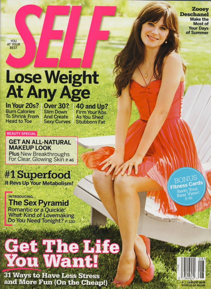 Zooey Deschanel featured on the SELF cover from August 2009