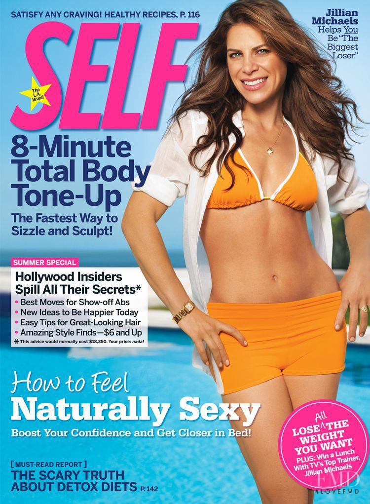 Jillian Michaels featured on the SELF cover from July 2009