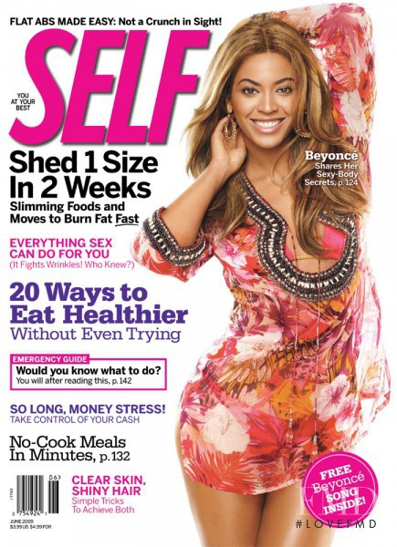 Beyoncé featured on the SELF cover from June 2009