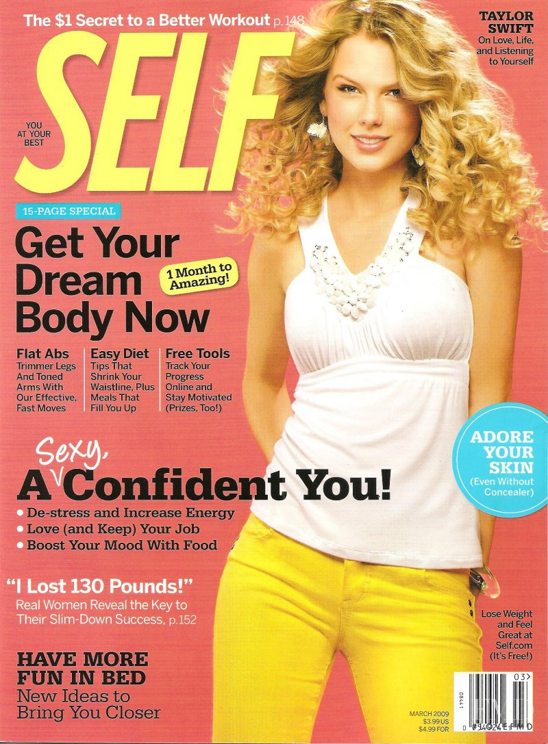 Taylor Swift featured on the SELF cover from March 2009