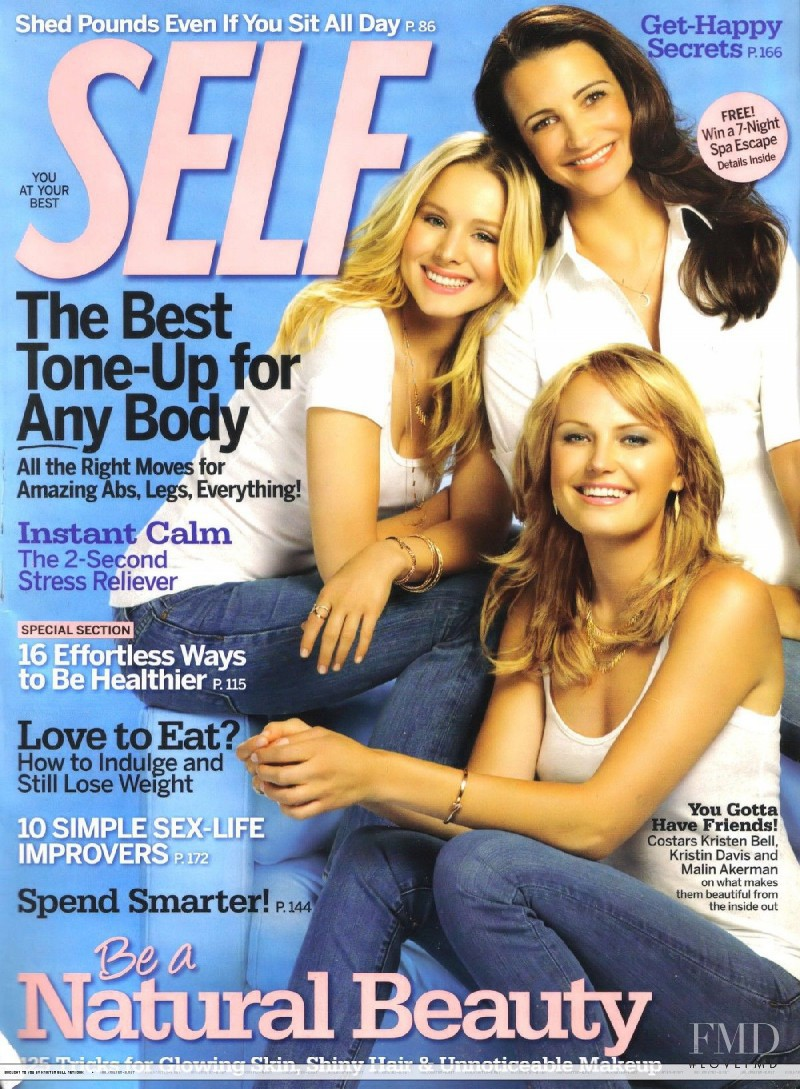 Kristen Bell, Kristin Davis, Malin Akerman featured on the SELF cover from October 2009