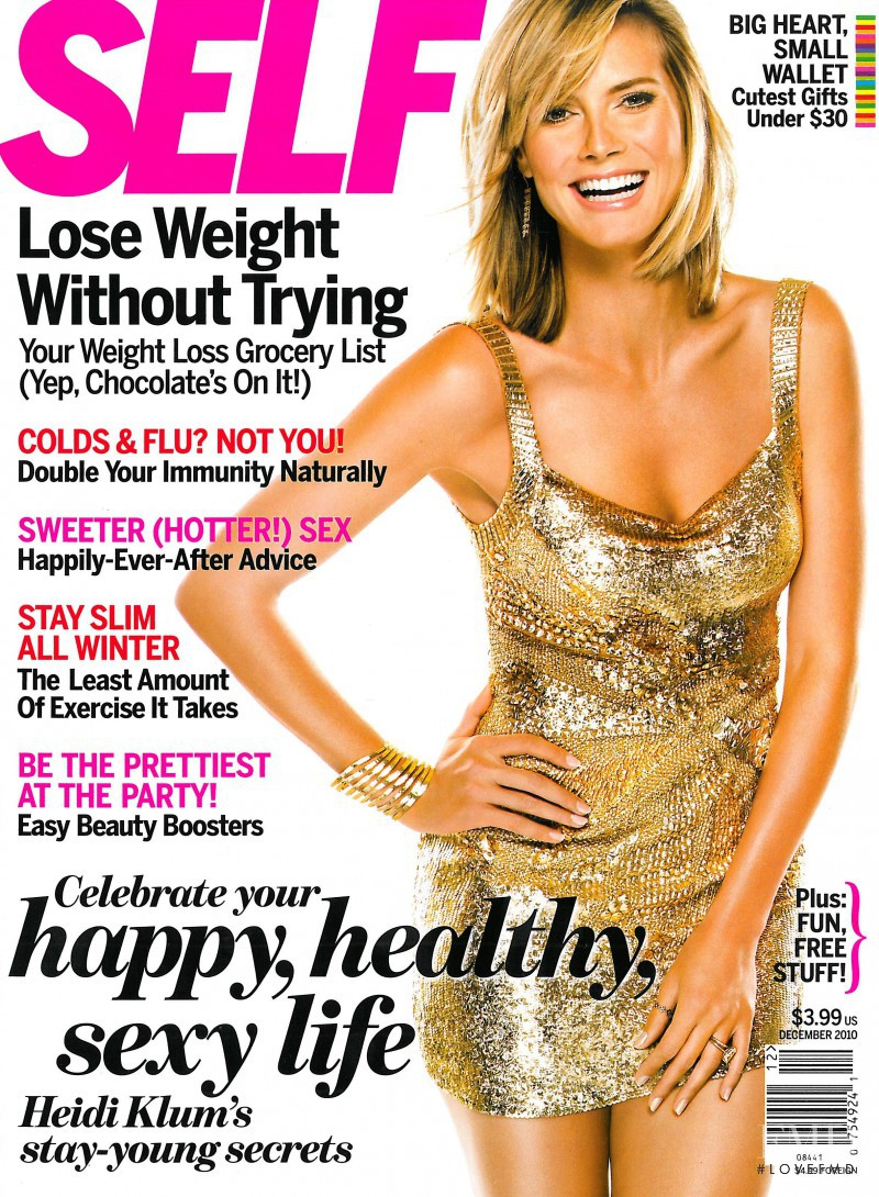 Heidi Klum featured on the SELF cover from December 2010