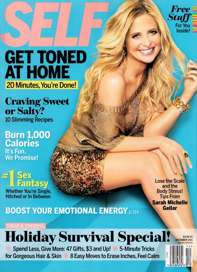 Sarah Michelle Gellar featured on the SELF cover from December 2011