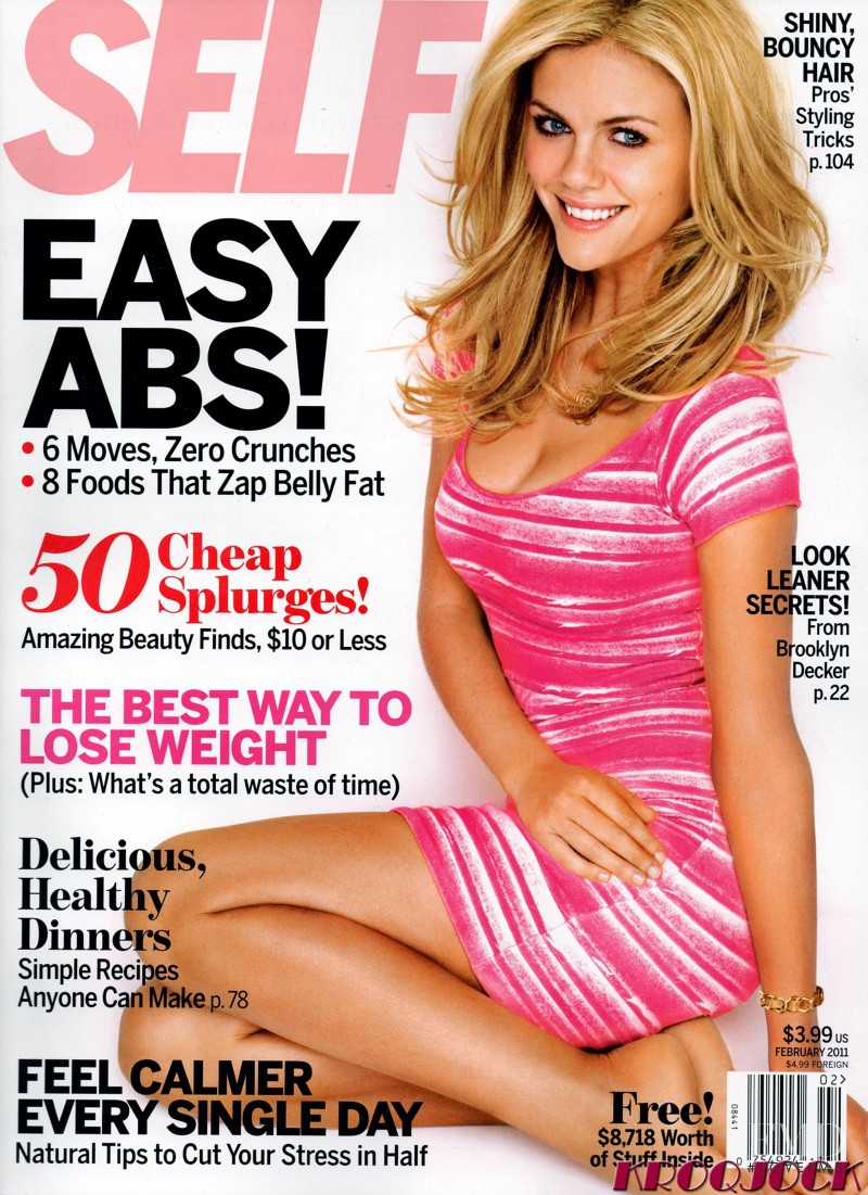 Brooklyn Decker featured on the SELF cover from February 2011