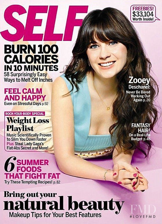 Zooey Deschanel featured on the SELF cover from July 2011