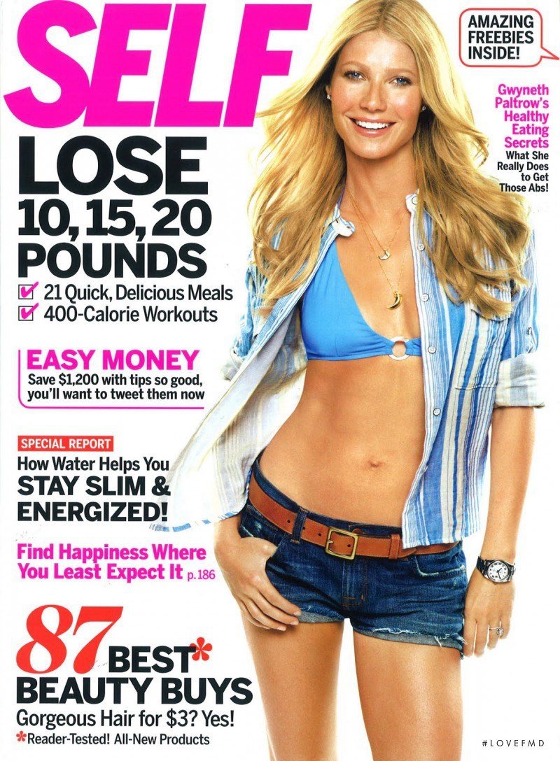 Gwyneth Paltrow featured on the SELF cover from May 2011