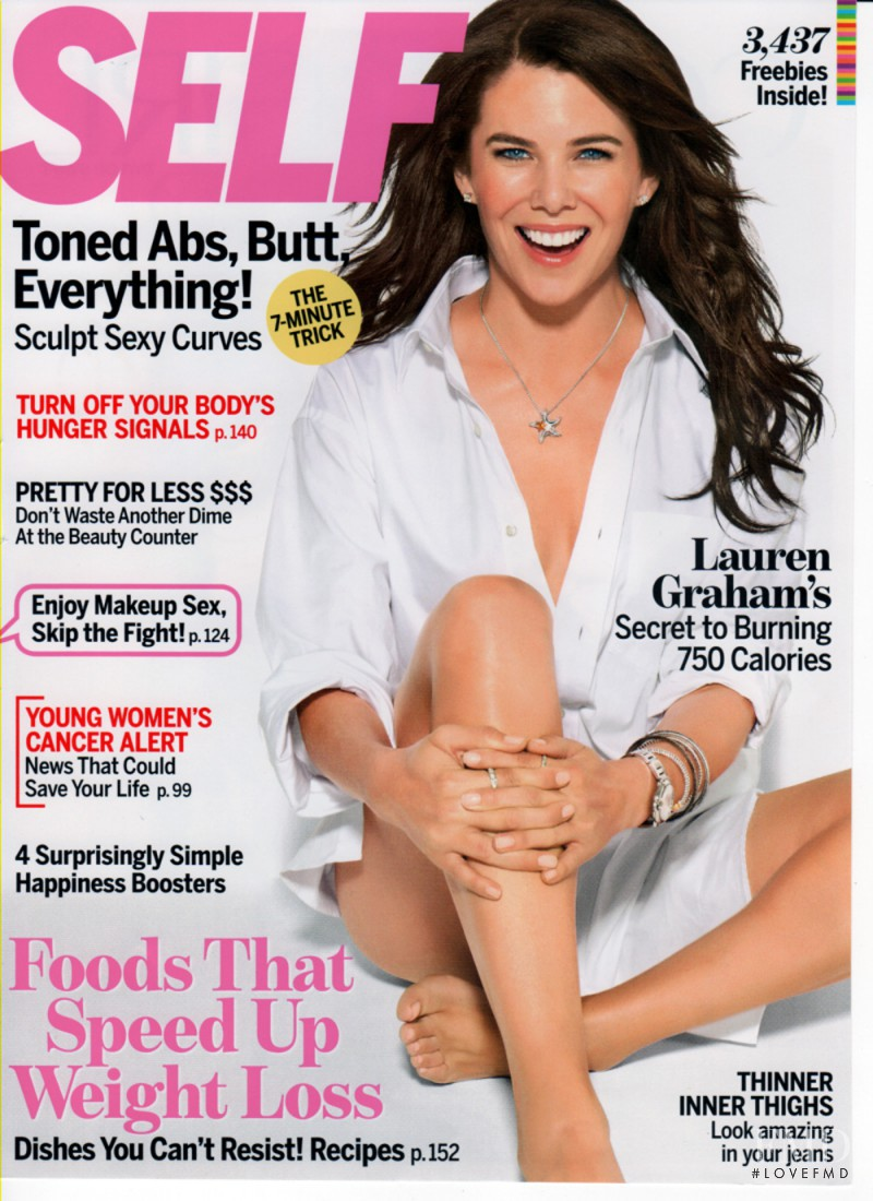 Lauren Graham featured on the SELF cover from October 2011