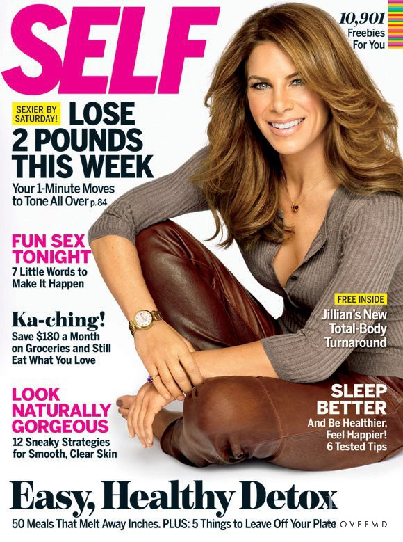 Jillian Michaels featured on the SELF cover from January 2012