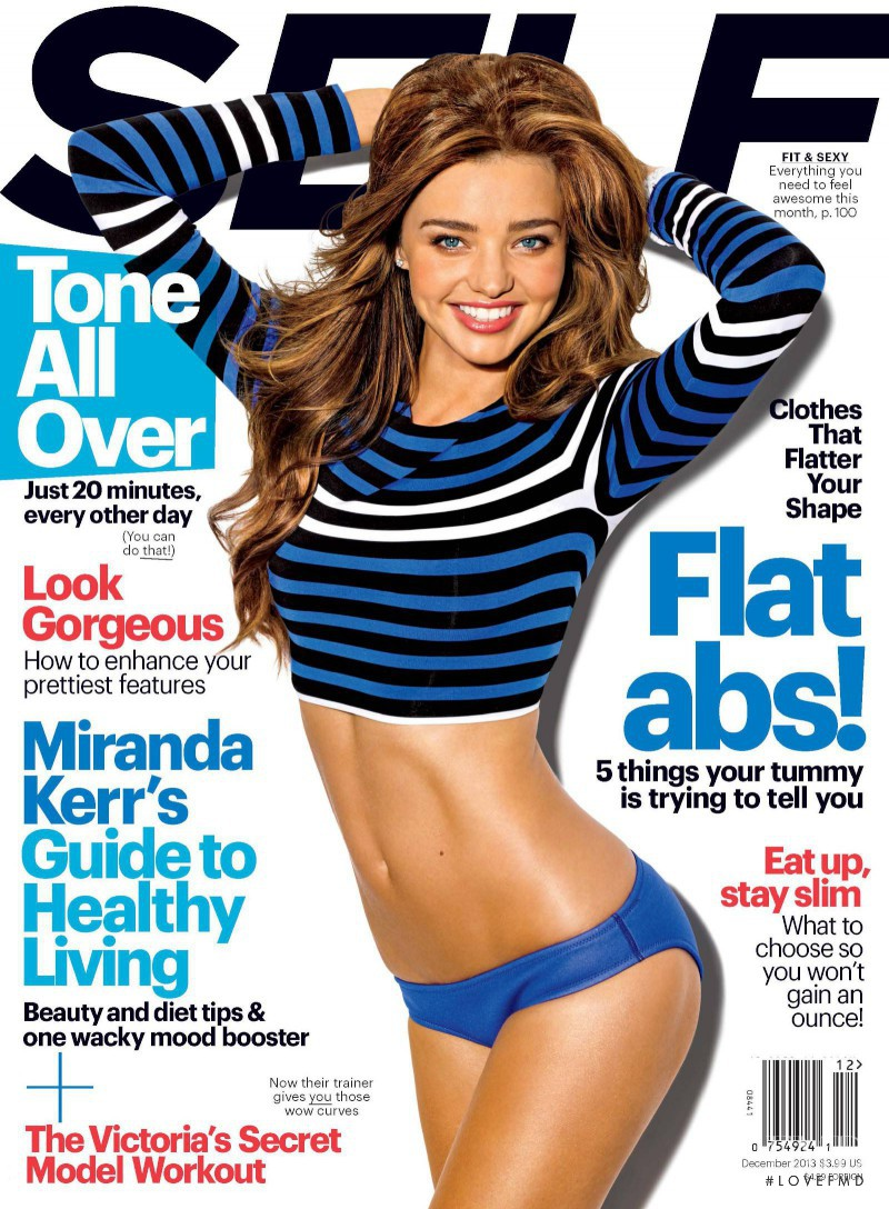 Miranda Kerr featured on the SELF cover from December 2013