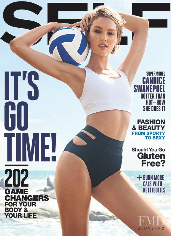 Candice Swanepoel featured on the SELF cover from March 2015