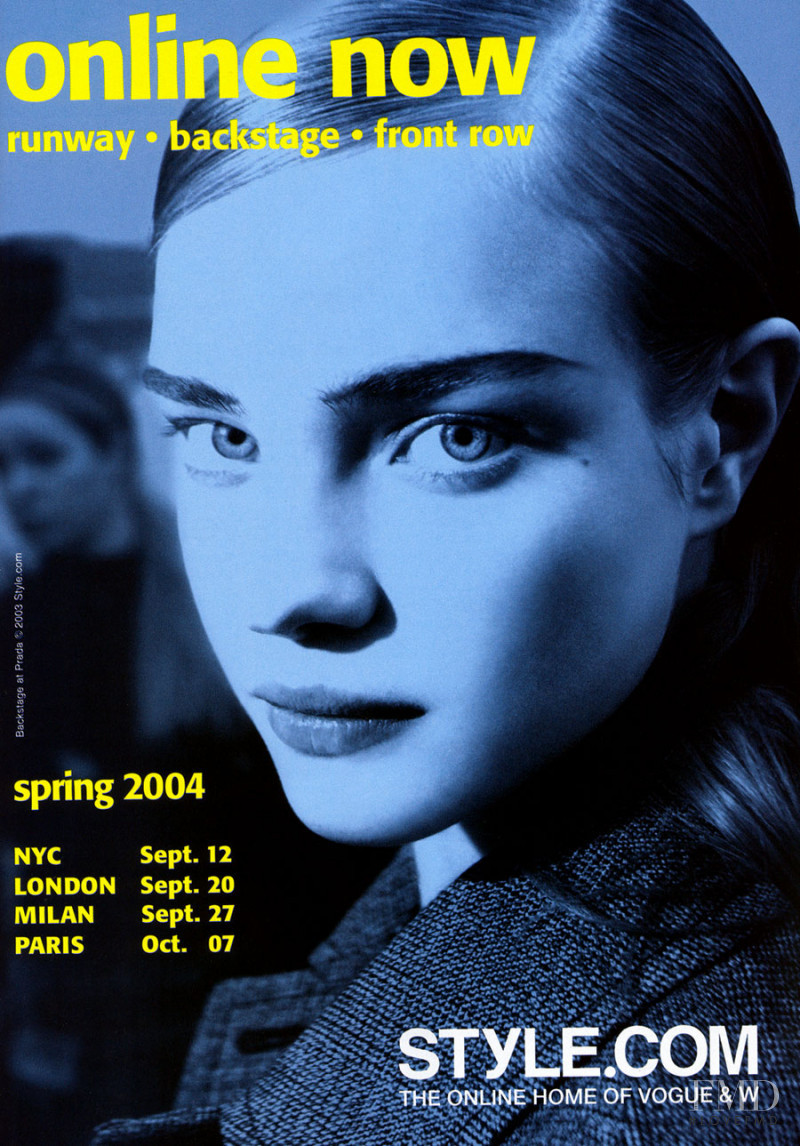 Natalia Vodianova featured on the Style.com cover from February 2004