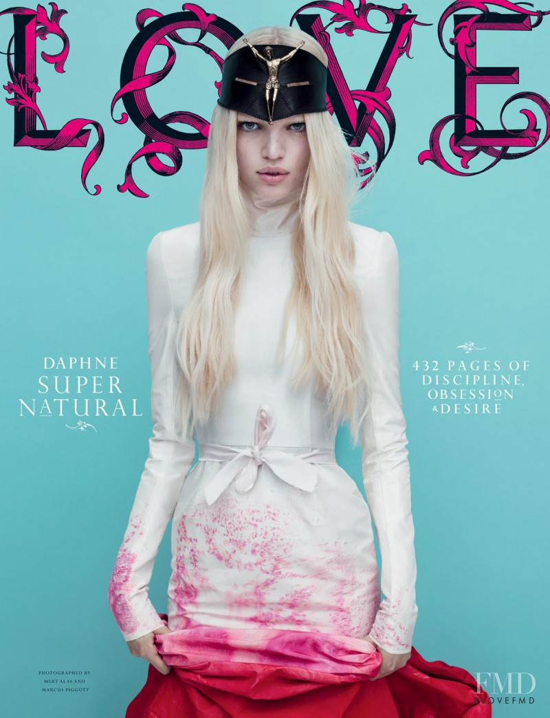 Daphne Groeneveld featured on the LOVE cover from September 2011