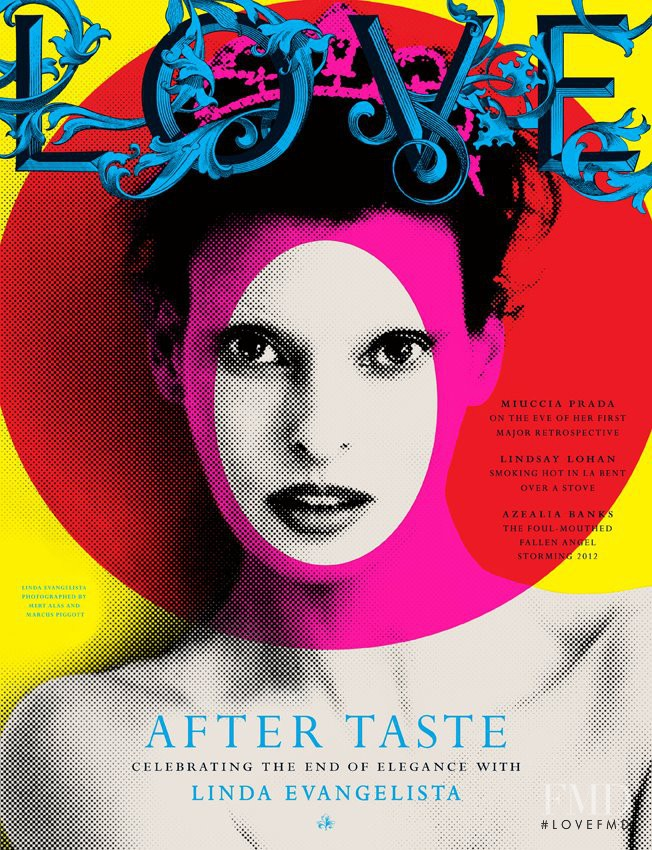 Linda Evangelista featured on the LOVE cover from March 2012