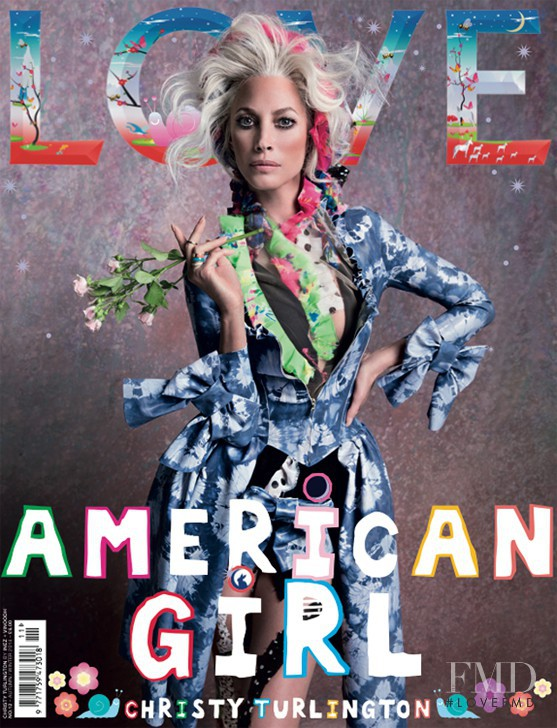 Christy Turlington featured on the LOVE cover from September 2014