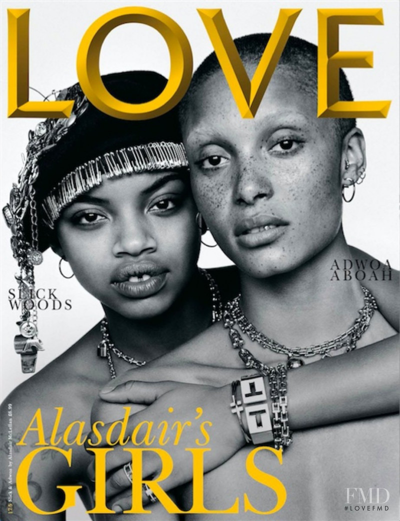 Adwoa Aboah, Aaliyah Hydes featured on the LOVE cover from May 2017