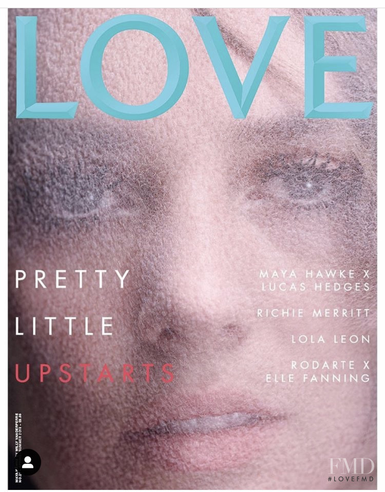 Maya Hawke featured on the LOVE cover from February 2019