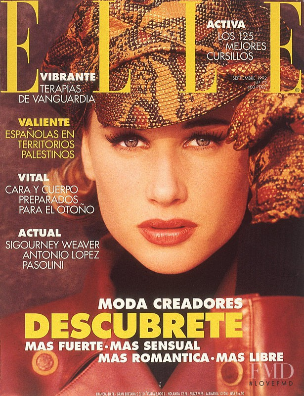 Sonja Rasch featured on the Elle Spain cover from September 1992