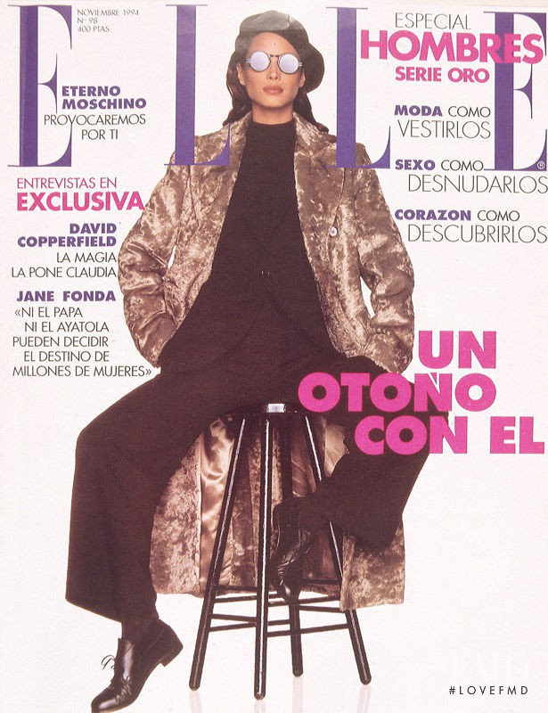 Christy Turlington featured on the Elle Spain cover from November 1994