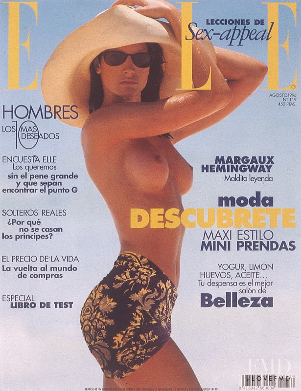Marpessa Hennink featured on the Elle Spain cover from August 1996
