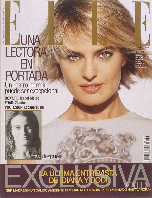 featured on the Elle Spain cover from February 1998