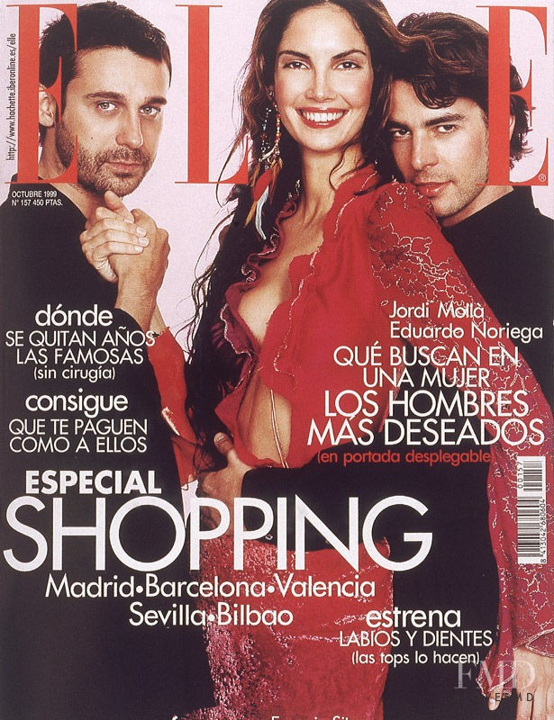 Jordi Mollá, Eduardo Noriega featured on the Elle Spain cover from October 1999
