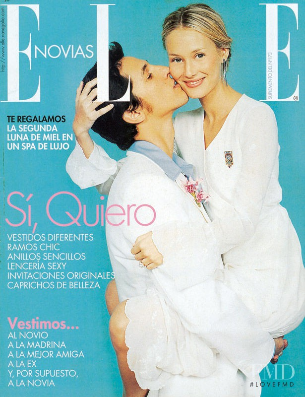 Vanessa Lorenzo featured on the Elle Spain cover from February 2001