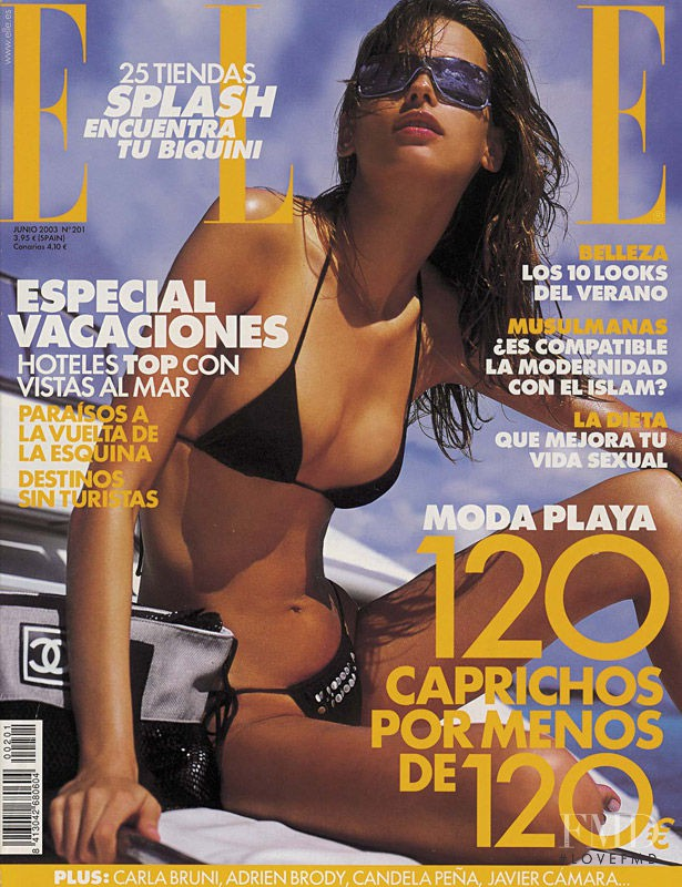 Andrea Krakhecke featured on the Elle Spain cover from June 2003