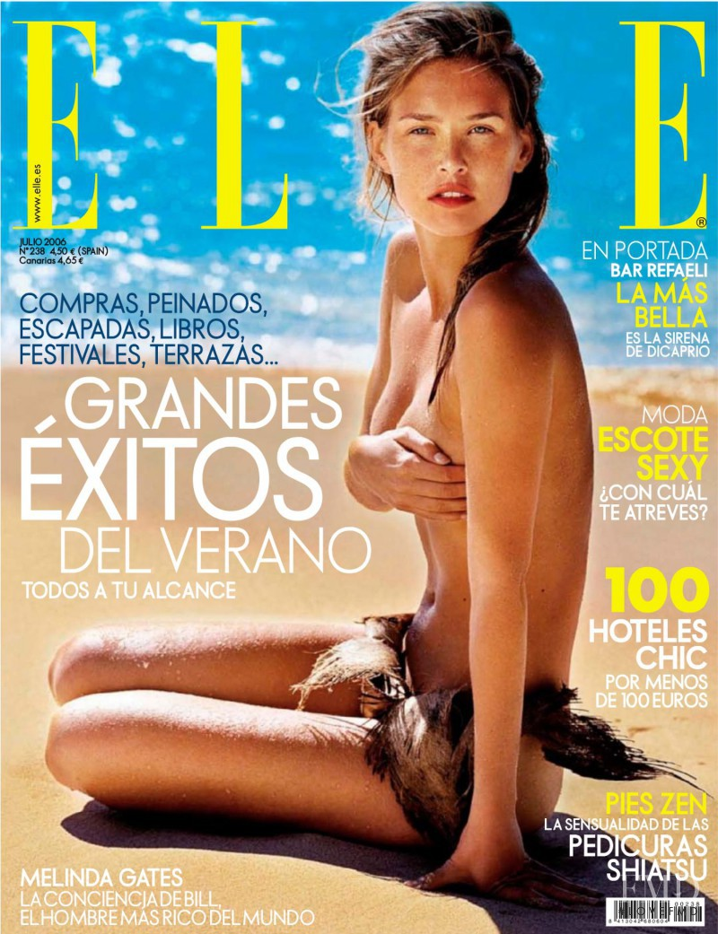 Bar Refaeli featured on the Elle Spain cover from July 2006
