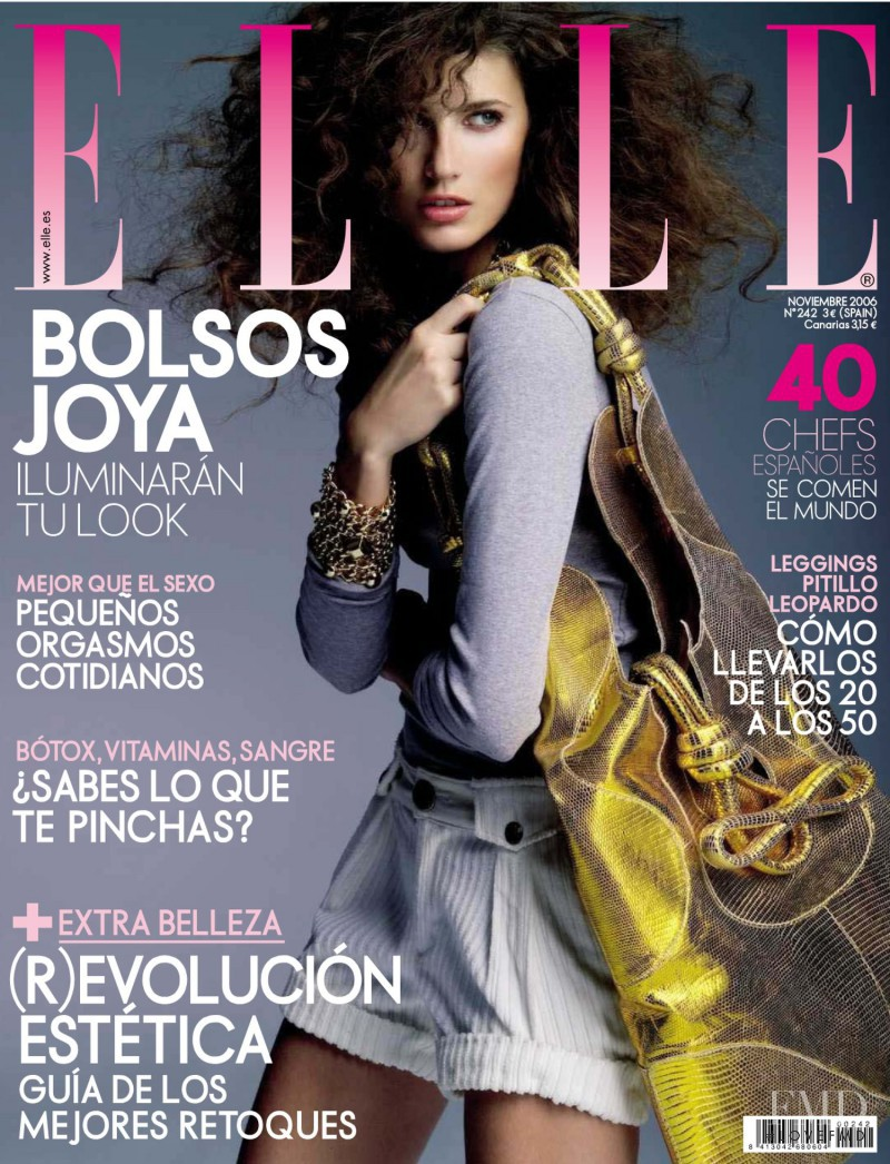Michelle Alves featured on the Elle Spain cover from November 2006