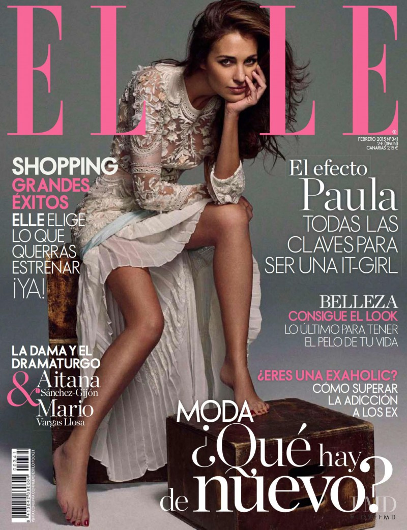 Paula Echevarria featured on the Elle Spain cover from February 2015