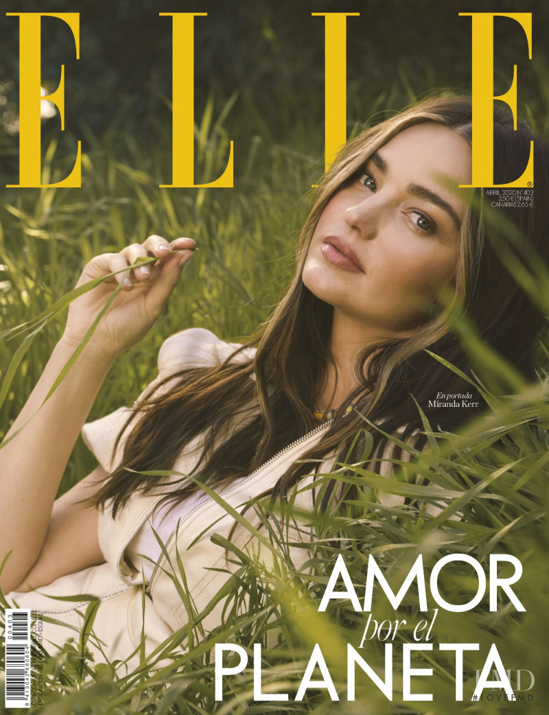 Miranda Kerr featured on the Elle Spain cover from April 2020