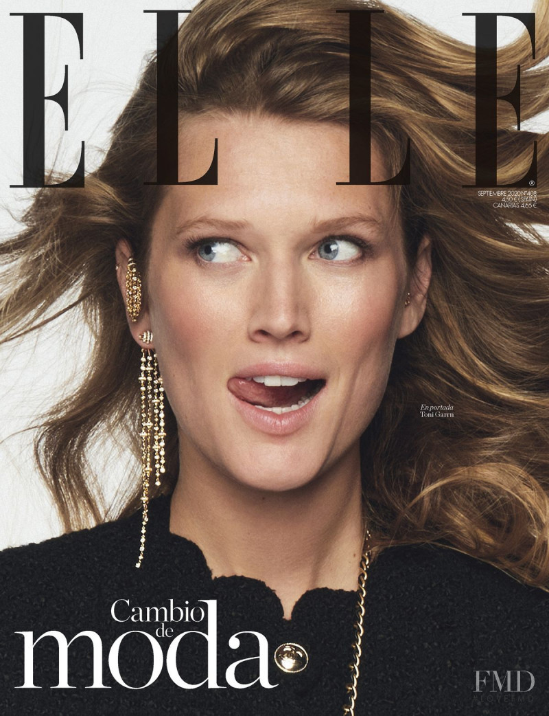 Toni Garrn featured on the Elle Spain cover from September 2020