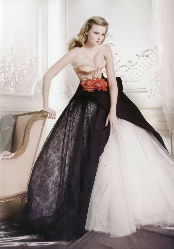 Photo of model lara stone id 250169 models the fmd for Chamber of couture