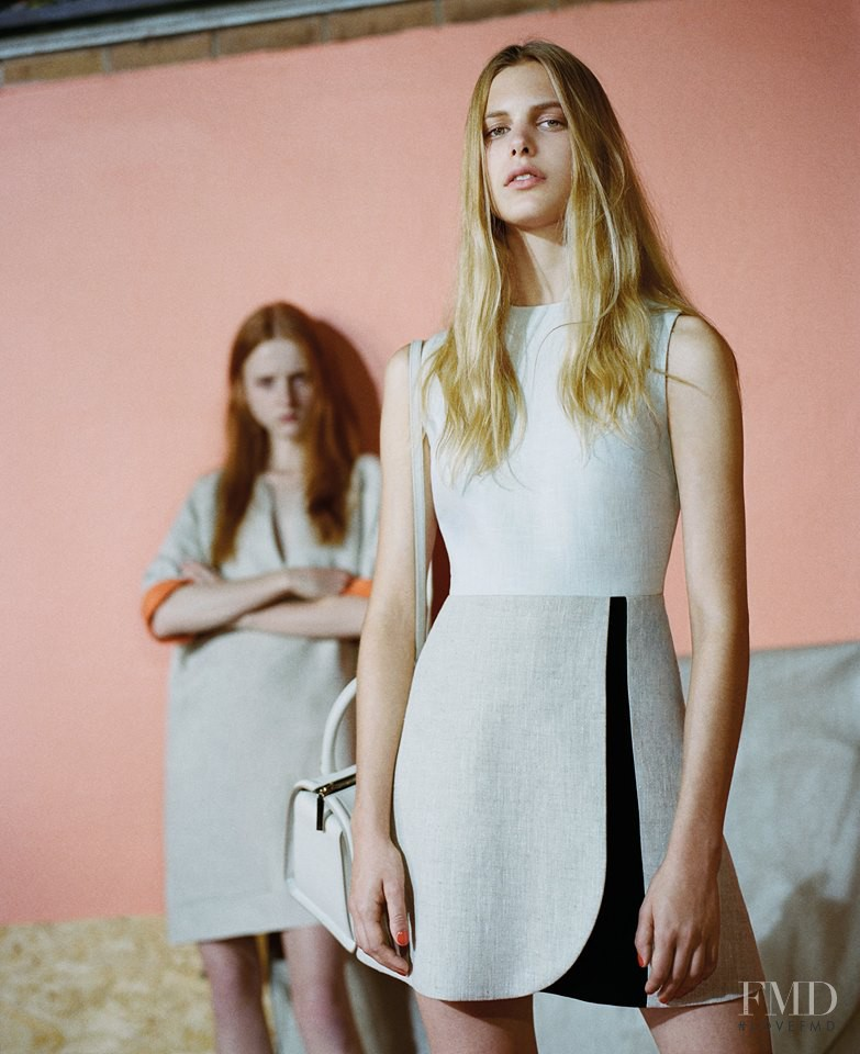Madison Stubbington featured in  the Victoria by Victoria Beckham lookbook for Spring/Summer 2015