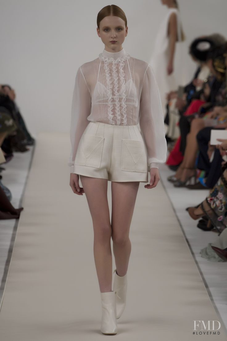 Madison Stubbington featured in  the Valentino Couture fashion show for Autumn/Winter 2014