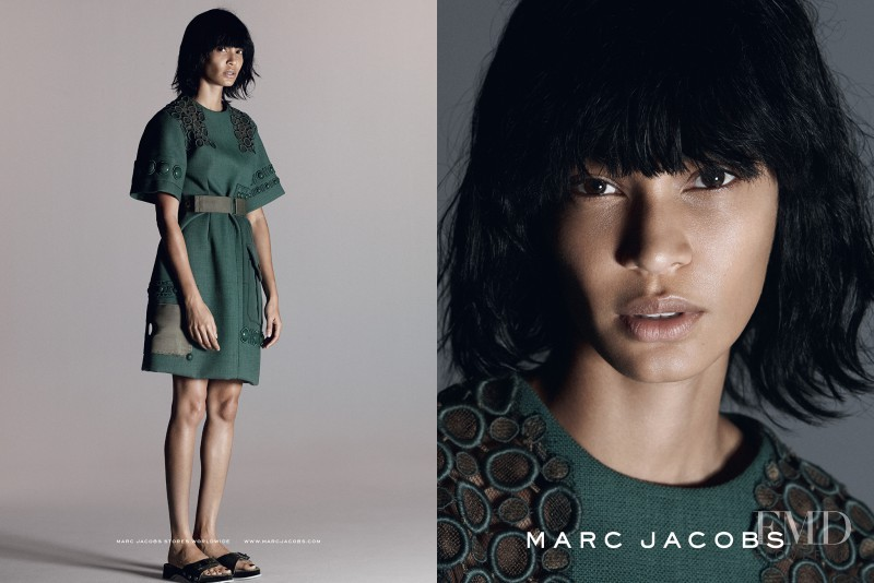 Joan Smalls featured in  the Marc Jacobs advertisement for Spring/Summer 2015