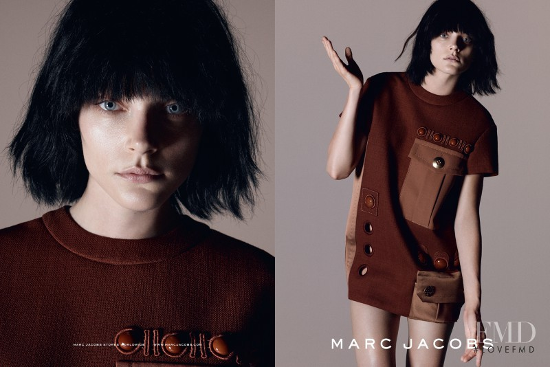 Jessica Stam featured in  the Marc Jacobs advertisement for Spring/Summer 2015